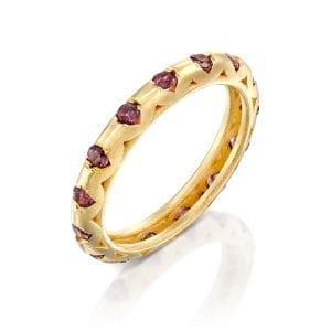 Cognac sapphires ring